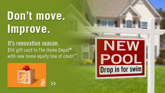 get a $50 gift card with new home equity line of credit