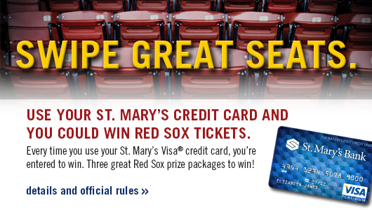 Your credit card could win you red sox tickets